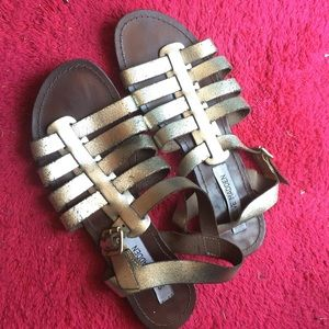 Steve Madden metallic leather sandals